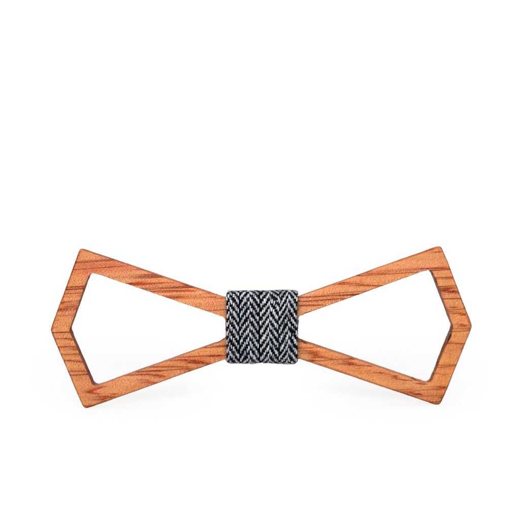 Bow tie manufacturers high quality wedding handmade childrens bow creative solid wood groom best man