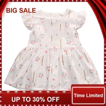 купить Infantil Kids Baby Girl Party Floral Cute Princess Flower Pattern Print Tutu Mini Dress 0-24M по цене 161.53 рублей