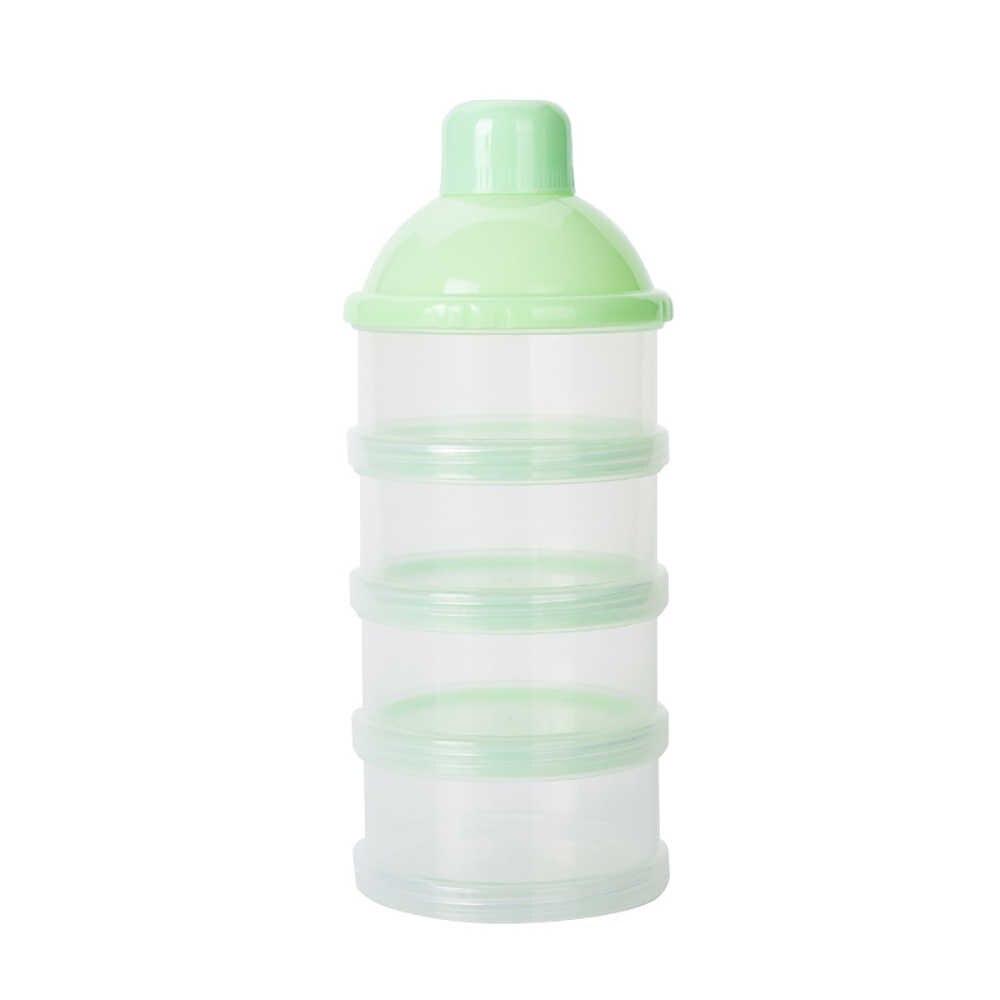 Портативный четыре слоя младенческой контейнер для сухого молока для кормления новорожденных еда бутылка влагостойкий коробка для хранения еды для перекуса