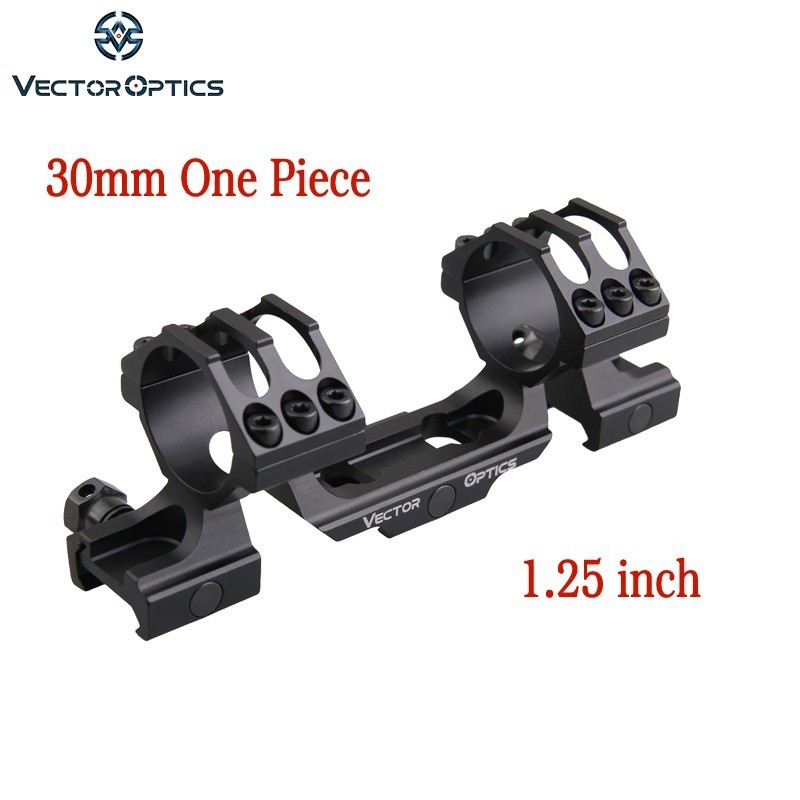 Vector Optics 30mm 1 25 inch One Piece Picatinny Mount with 6 Screws for Riflescope