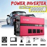 Автомобильный инвертор KROAK 12 V 24 V 220 V 10000 W Preak power синусоидальный инвертор автомобильный преобразователь переменного тока 110 V преобразовател
