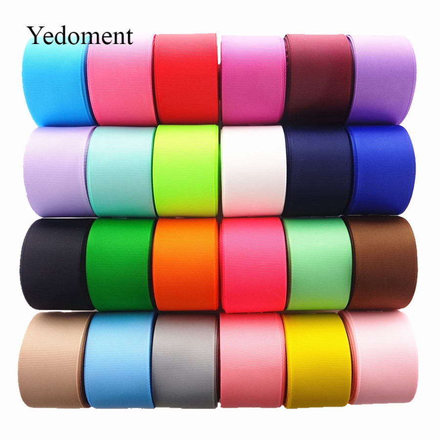 "5 YARDS SOLID COLOR GROSGRAIN RIBBON 1/"" 25MM CHOOSE FROM 10 COLORS USA SELLER"