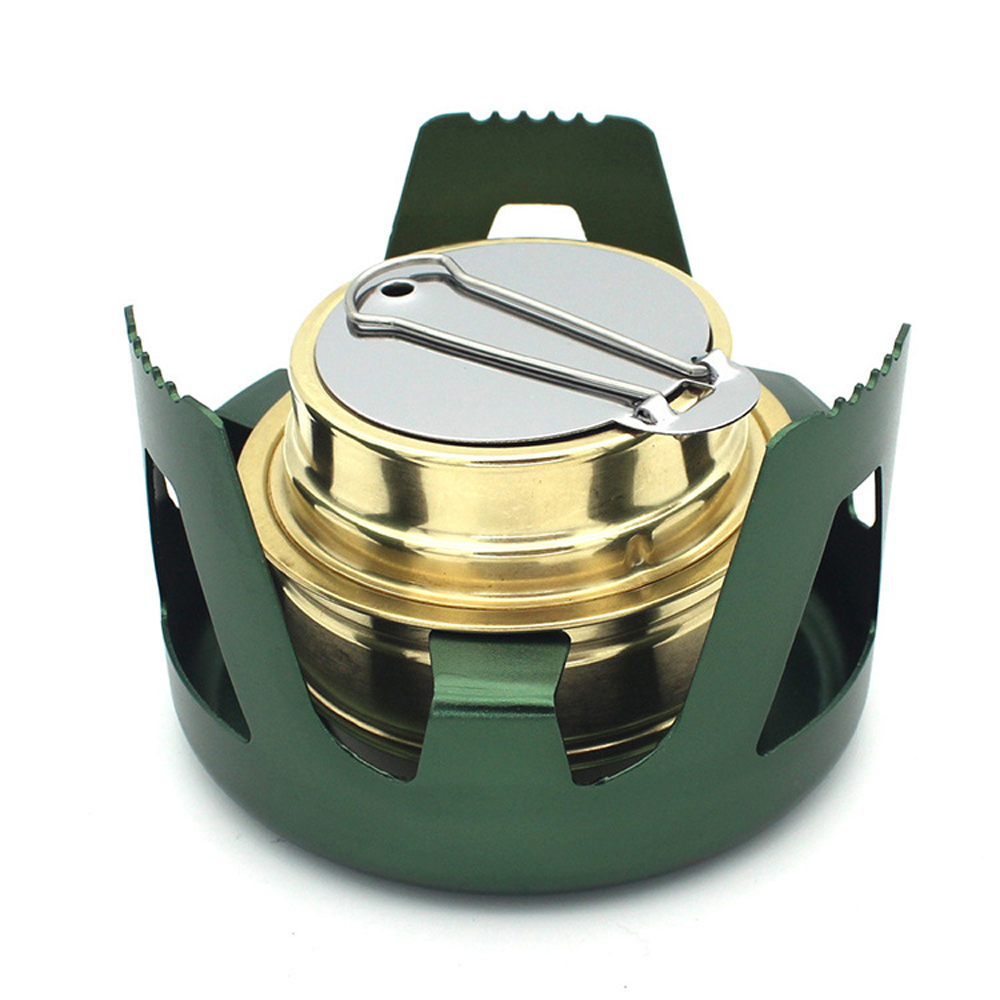 Outdoor Camping Hiking Burner Stoves Furnace Copper Alloy Portable Mini Ultra light Spirit Alcohol Stoves Accesories in Outdoor Stoves from Sports Entertainment