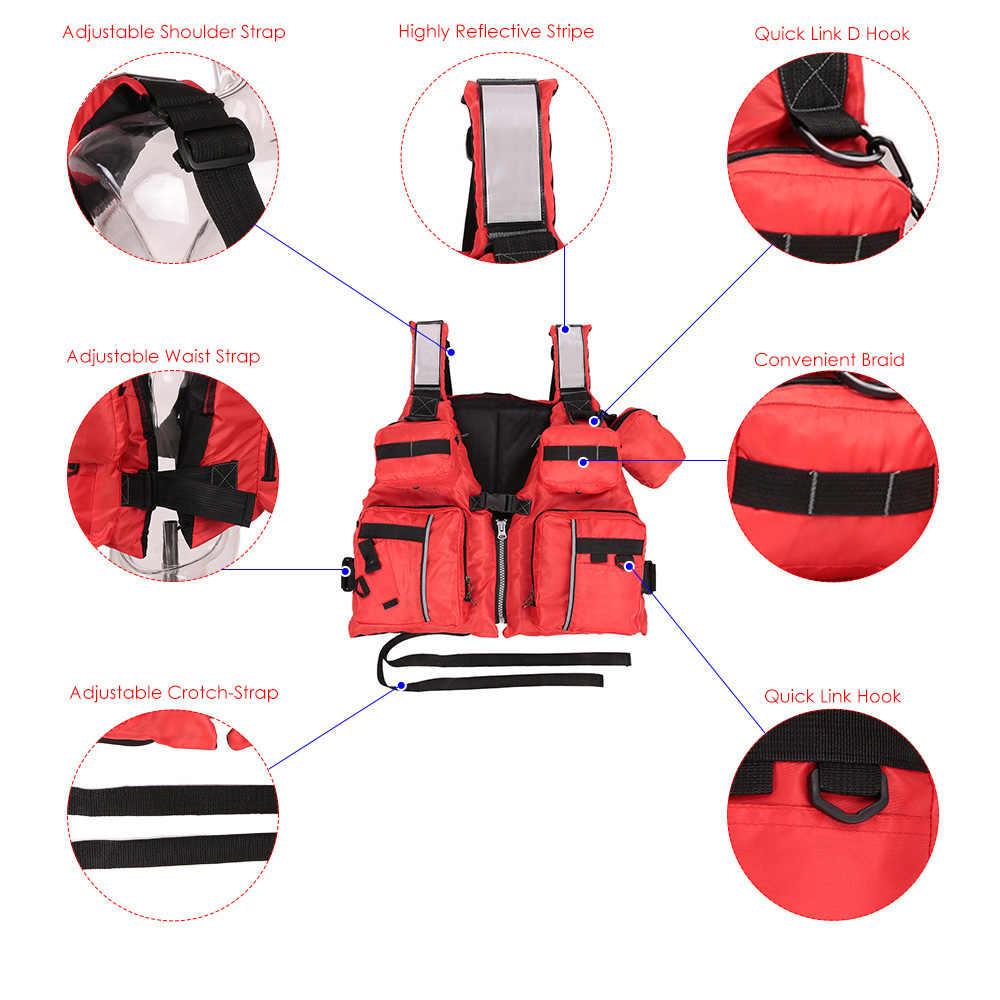 Dewasa Dilepas Apung Bantuan Berlayar Kayak Berkano Memancing Life Jacket Rompi