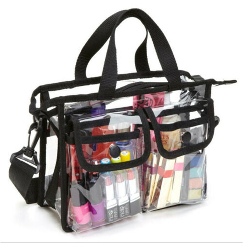 Fashion Clear Transparent Tote Bag PVC Transparent Cosmetic Bags Beach Bag Shopping Bags Cases in Cosmetic Bags Cases from Luggage Bags