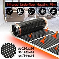 2 M ~ 6 M 50 CENTIMETRI Elettrico Lontano Infrarosso Riscaldamento a Pavimento Films A Pavimento Riscaldamento Elettrico Caldo Film Kit Sotto laminato/Pavimento Solido