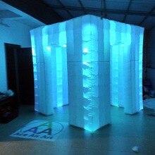 2,4 м W куб led надувной бар-палатка, фото вечерние будки для свадьбы с бесплатной воздуходувкой без двери занавес
