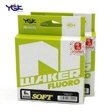 Япония происхождения YGK мягкая N-waker высокопрочная углеродная леска 91 м 4-20lb#1,0#1,5#2,0#2,5#3,0#3,5 фторуглеродная леска