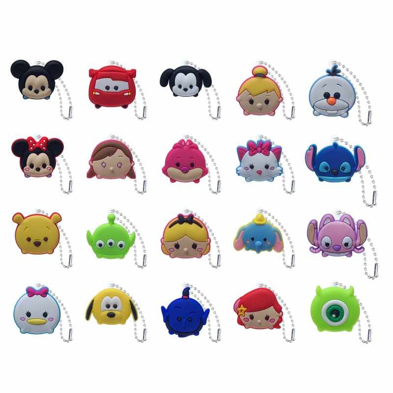 New 1pcs Cute Cartoon Keychain Anime Mickey Accessories Key Chain Key Cover Cap DIY Toys Key Ring Gift for Kids Gift
