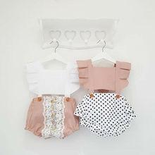 Комбинезон с открытой спиной для новорожденных девочек, комбинезон, боди, летняя одежда