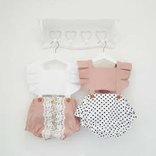 2019 Newborn Baby Girls Backless Romper Jumpsuit Bodysuit Outfits Clothes Summer(China)