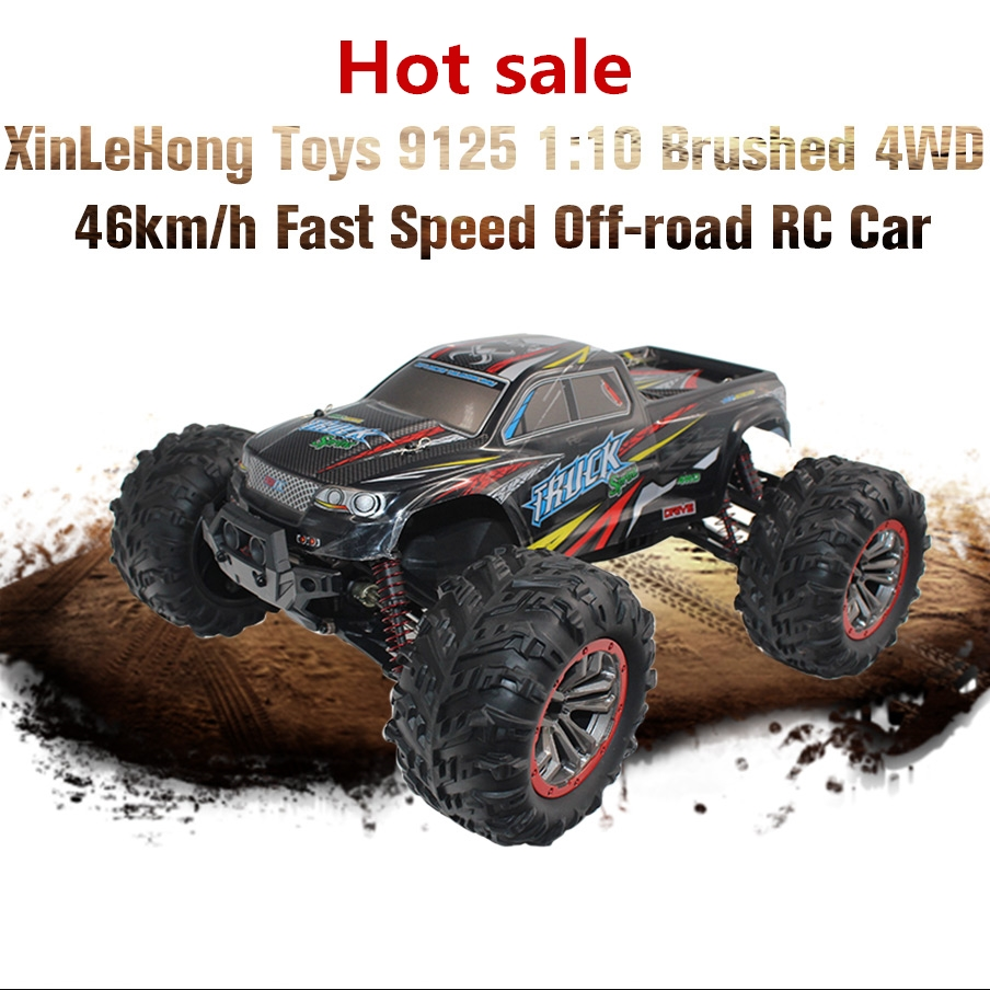 XinLeHong Toys 9125 1:10 Brushed 4WD 46km/h Fast Speed Off-road RC Car Supersonic Monster Truck Off-Road Vehicle Buggy Toys