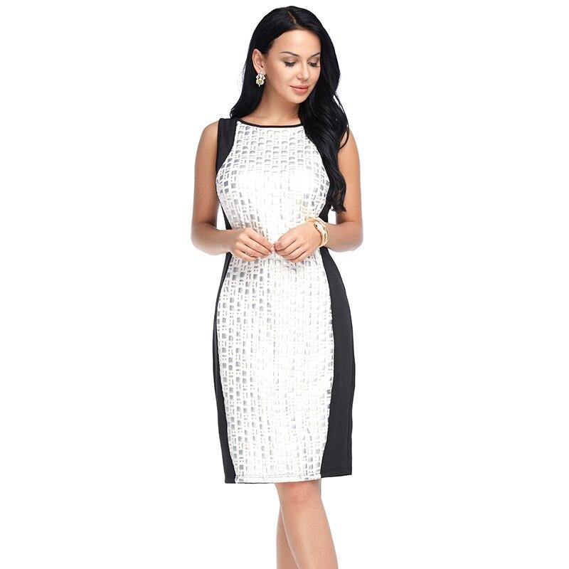 Летнее лоскутное кружевное платье для женщин пикантные вне плечо элегантный платья для вечеринок Винтаж без рукавов черный, белый цвет Bodycon...