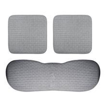 цена на 3Pcs Auto Car Seat Cushion without Backrest Fabrics Non-Slip Car Seat Cover Pad Car Seat Cover Mat Auto Accessories (Dark Gray)