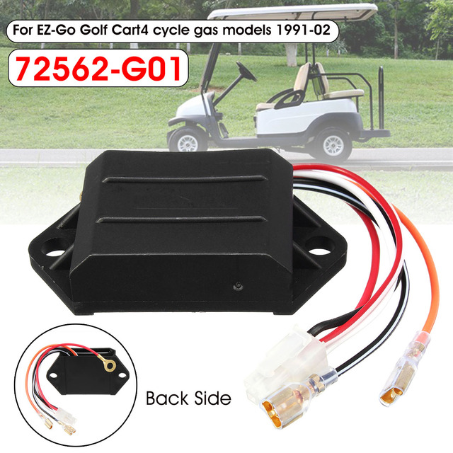 US $18 3 13% OFF|Golf Cart CDI Ignitor For EZ Go Golf Cart 1991 2002 4  Cycle Gas Models 72562 G01-in Go Kart Parts & Accessories from Automobiles  &