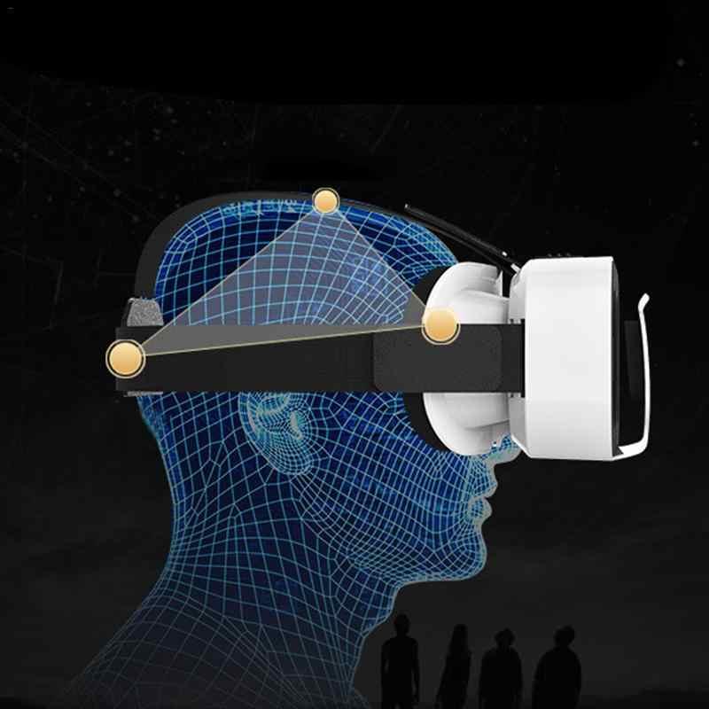 VR Shinecon 5th Generasi VR Kacamata 3D Virtual Reality Kacamata Ringan Portabel Kotak