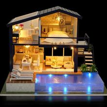 New DIY 3D Wooden Mini Dollhouse 2019 Time Apartment Doll House Furniture Educational Toys Furniture For Girl children Love Gift