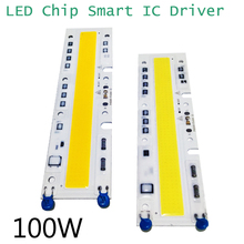 LED COB Chip Smart IC Driver Bead 100W High Power Bulb Floodlight Integrated Panel Warm/Cool White 110V 220V