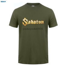 GILDAN  Summer Style Hip Hop T Shirt Tops Short Sabaton Power Crew Neck Zomer Shirts