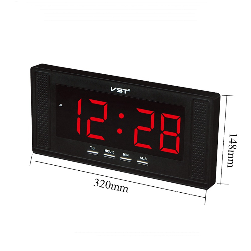 Image 4 - Vst Large Display Electronic Led Wall Clock With Alarm Clock Home Use Desktop Alarm Clock Europe 24 Hour Clock-in Alarm Clocks from Home & Garden
