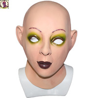 Popular Fancy Dress Costume Latex Crossdressing Beauty Eyeshadow Female Mask for funny sex
