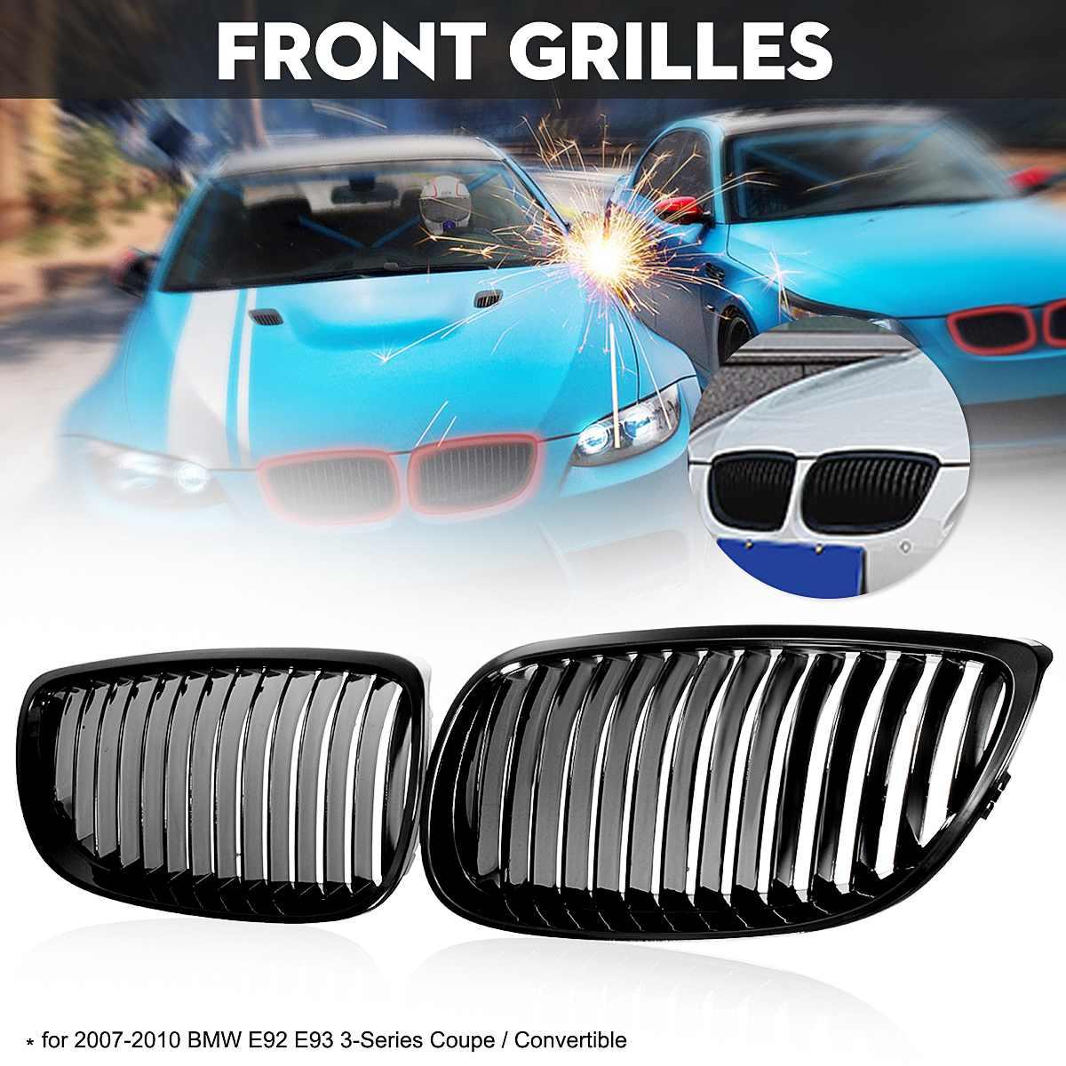 ABS пара спереди почек черный глянец бампер решетка грили для BMW 3 серии E92 купе и E93 Кабриолет 2007 2008 2009 2010