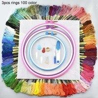 Пяльцы для вышивания скеин удар игла сшивание регулируемый вышивка крестиком рукоделие аксессуар 50 100 цветная вышивка круги