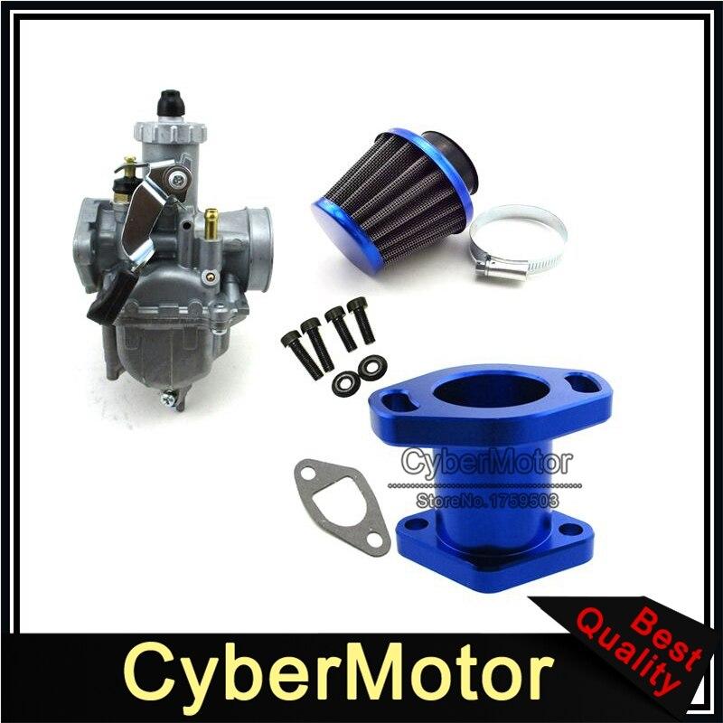 Карбюратор Mikuni VM22-3847 + стальной воздушный фильтр 38 мм + впускная труба + винтовые болты для Predator 212cc GX200 196cc Mini Bike Go Kart