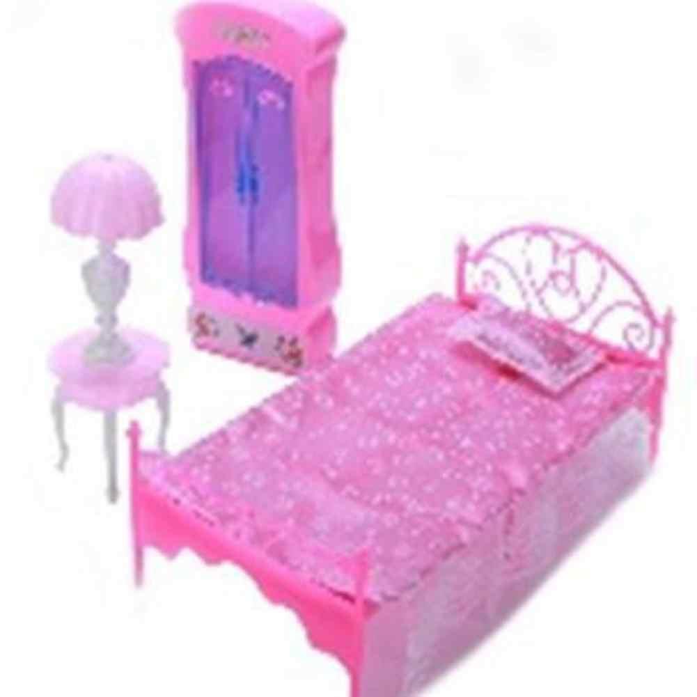 1:6 имитирует кровать настольная лампа гардеробный комплект игровой домик игрушки