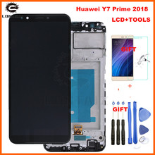 HUAWEI Y7 Prime 2018 LCD Display Touch Screen Digitizer For Huawei Y7 Pro 2018 LCD With Frame LND L22 LX2 L21 LX3 L23 LX1 TL30 цена