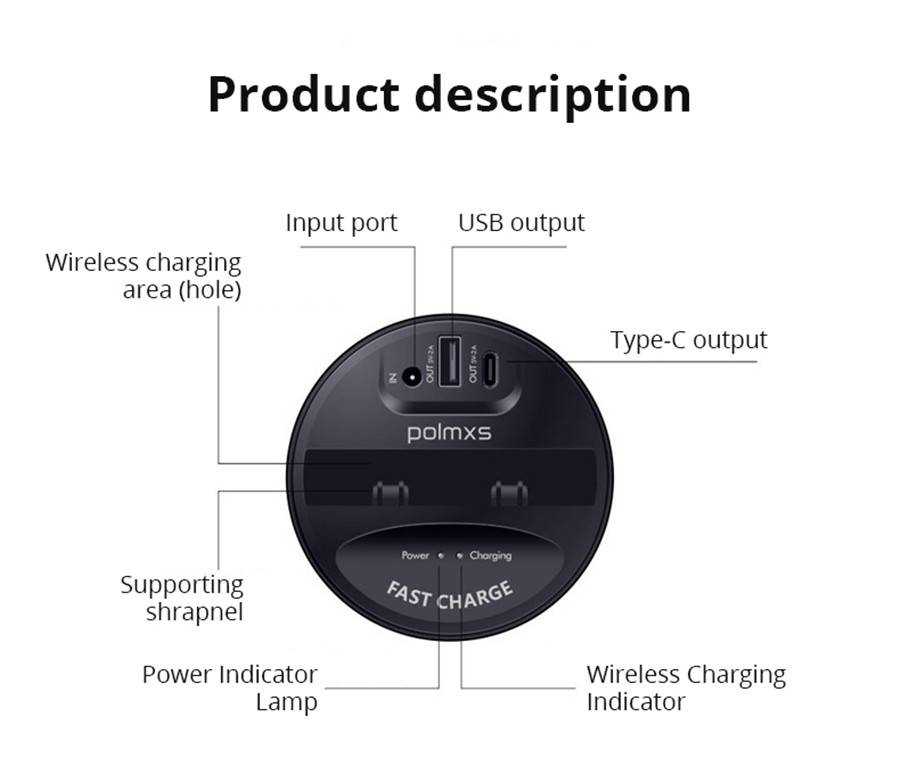 Universal Fast Wireless Car Charger Cup for iPhone XsMax Xr for Samsung S9 S8 Note10 9 in Drinks Holders from Automobiles Motorcycles