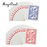 MagiDeal Pack of 12 Blue Red Playing Cards for Poker Game Texas Casino Gaming Player