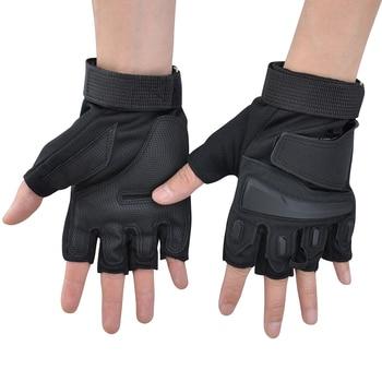 Guantes tácticos para exteriores VIM, guantes antideslizantes militares sin dedos, guantes de deporte de ciclismo para motociclistas