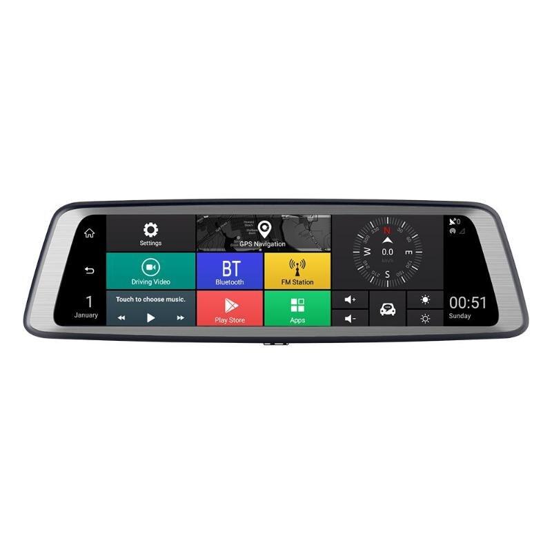 9.88 pouces IPS écran tactile 4 lentilles 1296 P octa-core voiture rétroviseur DVR GPS enregistreur vidéo ADAS Dash Cam