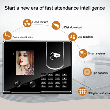 Face Facial Recognition Access Control Time Attendance System RFID Card TCP/IP USB Clock Employee Device Attendance Machine uf100plus face recognition time attendance with fingerprint and rfid card em card reader tcp ip wifi facial employee time clock