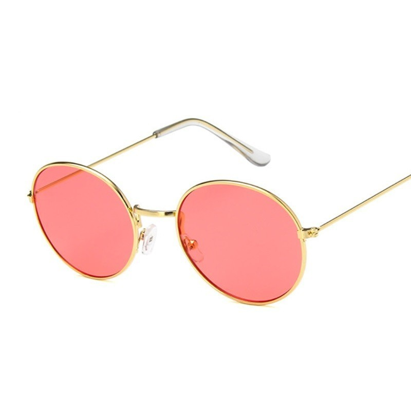 Retro Round Sunglasses Women Brand Designer Sun Glasses For Women Alloy Vintage Mirror Sun Glasses Female Ladies Oculus De Sol