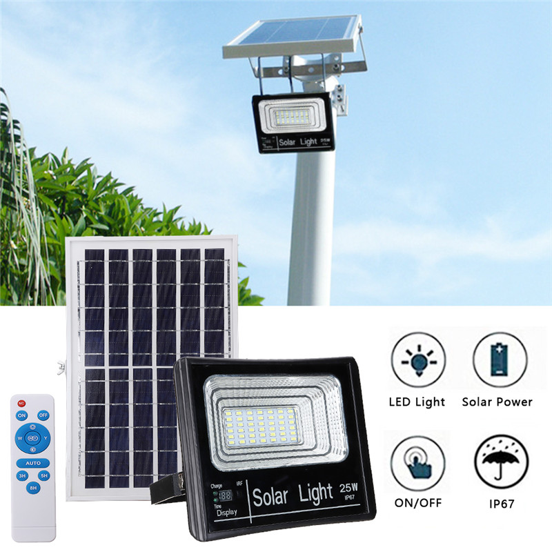 25w solar light 42leds solar wall light garden floodlight - Remote control exterior light switch ...
