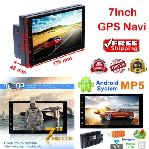 7 pouces Android 8.1 WiFi 2Din HD Quad Core GPS Navi autoradio lecteur MP5 Radio FM7 pouces Android 8.1 WiFi 2Din HD Quad Core GPS Navi autoradio lecteur MP5 Radio FM