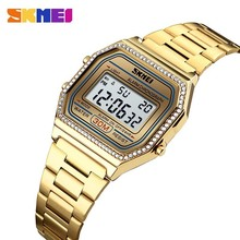SKMEI Fashion Women Watches LED Digital Sport  30M Waterproof Week reloj inteligente mujerDiamond Electronic reloj digital mujer цены