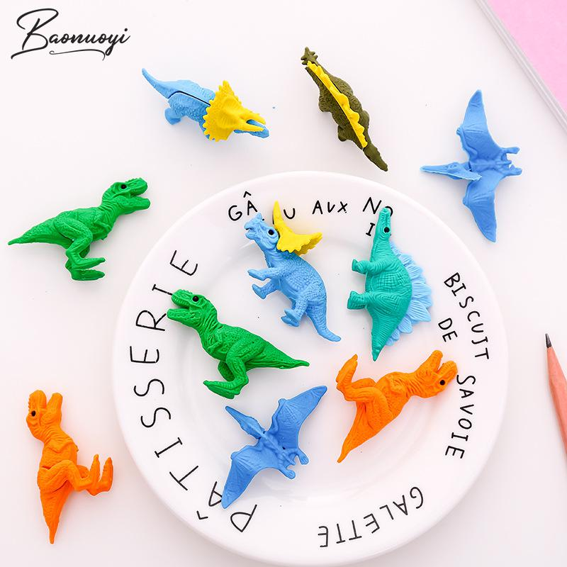 5Pcs/Set Mini Rubber Eraser Cute Dinosaur Eraser Box School Stationery Office Supplies School Supplies Bts Stationery Gift Tool