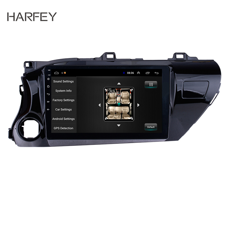 Harfey 10.1 Android 8.1 Radio for TOYOTA HILUX 2016 2017 2018 Left hand Driver with Bluetooth GPS Navi USB FM SWC DVR OBD image