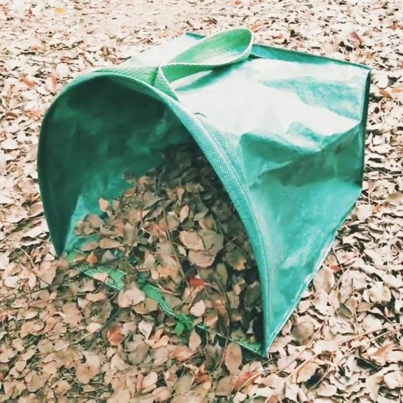 Garten Gebäude Pflasterformen Garten Hof Blatt Abfall Tasche Kehrschaufel-typ Garten Taschen Für Sammeln Blätter Mehrweg Gartenarbeit Taschen Rasen Pool 53 Gallonen Pro Tasche