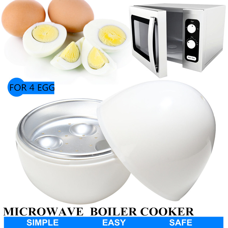 4 Cups Eggs Boiler Cooker for Microwavable For Microwave 4 Eggs Breakfast Kitchen Appliance Cooking Tools Supplies Egg steamer