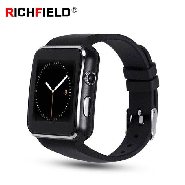 X6 Smart Watch Sim Card Clock Bluetooth Phone Watch Camera Passometer Call Sport Smartwatch Women Men Whatsapp For IOS Android bluetooth