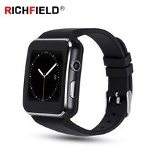 X6 Smart Watch Men Women Sim Card Clock Bluetooth Phone Watch Smart Watches Wristband Camera Pedometer Smartwatch For Android keyou dm09 smart watches sim card android clock bluetooth watch phone square passometer camera change english languag smartwatch page 2 page 4 page 4
