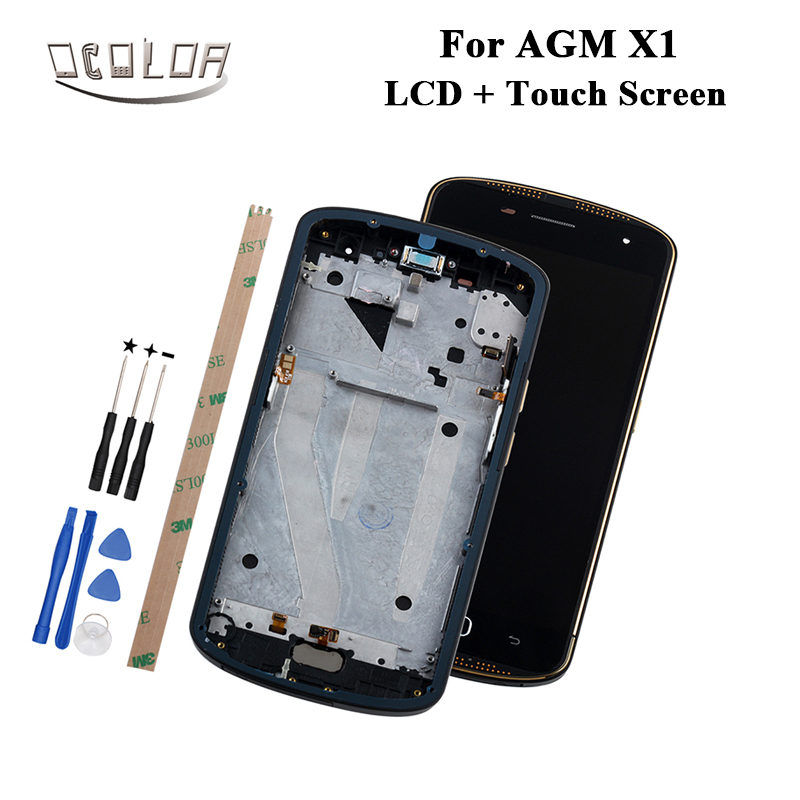 ocolor For AGM X1 LCD Display and Touch Screen With Frame Tools And Adhesive For AGM