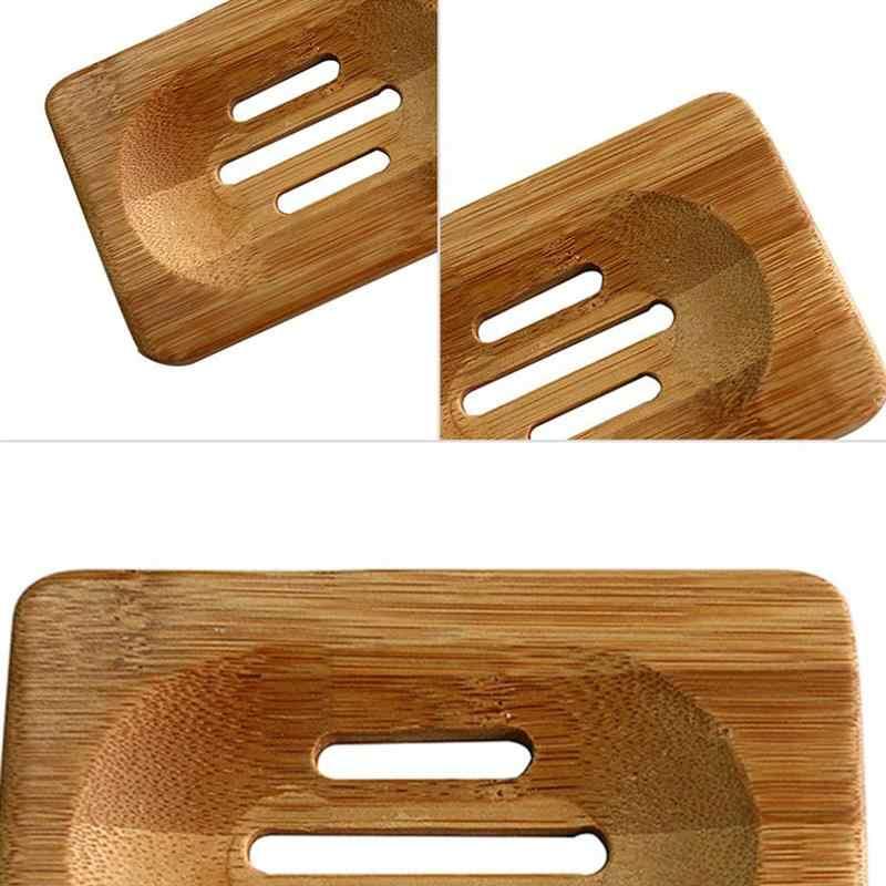 Новый портативный мыло лоток держатель натурального бамбука деревянные мыло блюдо Box Дело Контейнер мыть душ хранения стенд дома ванная ко