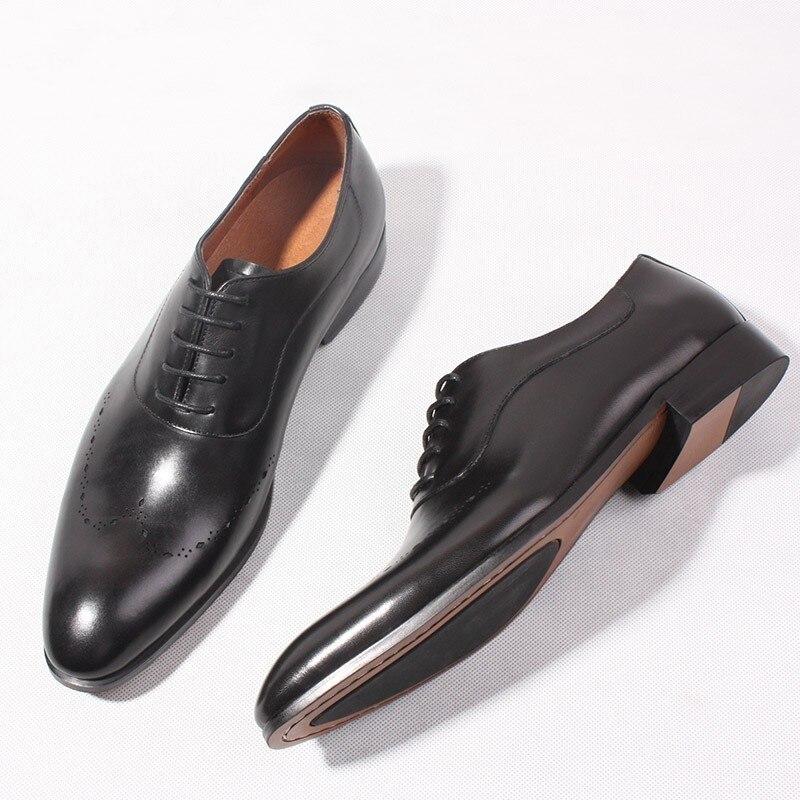 Black Kleid Mann Echtem Lace Pics Schuhe Handarbeit Für Up Geschnitzte as Goodyear Leder Heißer Formal Business Aus Hochzeit Mode Stil BwqT6Tf