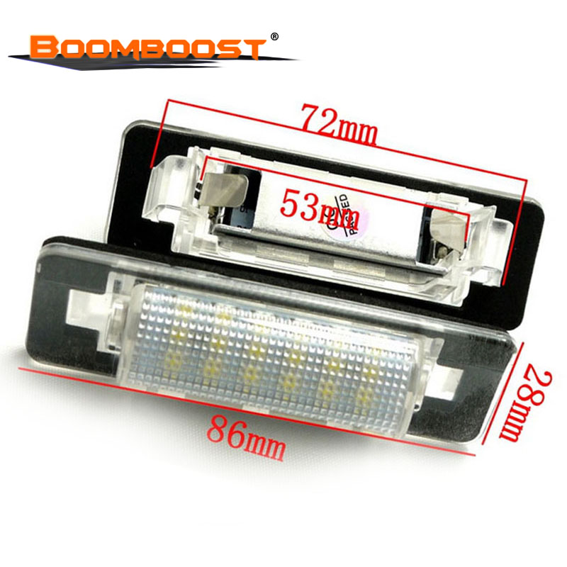 2pcs 3528 SMD For Benz W210 <font><b>W202</b></font> E300 E55 C230 C43 AMG 18 <font><b>LED</b></font> Car <font><b>LED</b></font> Number License Plate Lamps OBC image