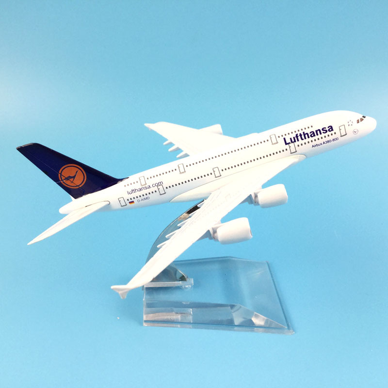 16cm Lufthansa Airbus 380 Plane Model Airplane Model Aircraft Model Diecast Metal 1:400 Plane Airplane Toy Gift image